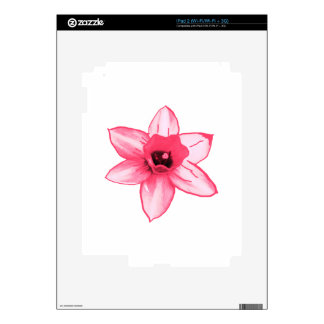 Cactus Pink Flower Template increase decrease size Skins For iPad 2