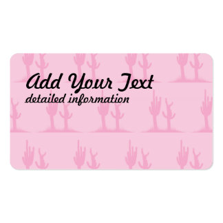 Cactus pinks Double-Sided standard business cards (Pack of 100)