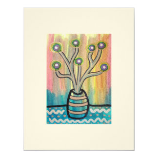 Cactus Plant ACEO collectible, affordable art Card
