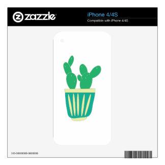 Cactus Plant iPhone 4 Decals