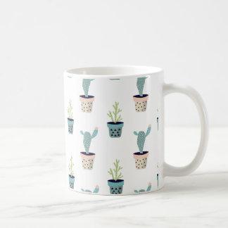 Cactus Plant Pattern Coffee Mug