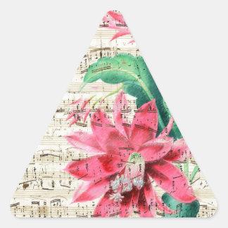 Cactus Poetry Triangle Sticker