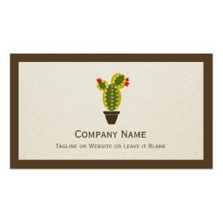 Cactus Potted lindo - elegante limpio simple Tarjetas De Visita