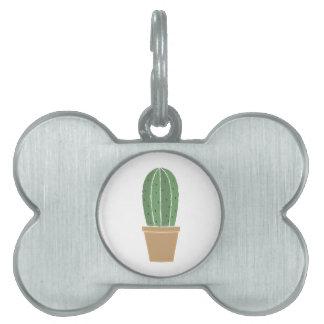 Cactus Potted Placa De Mascota