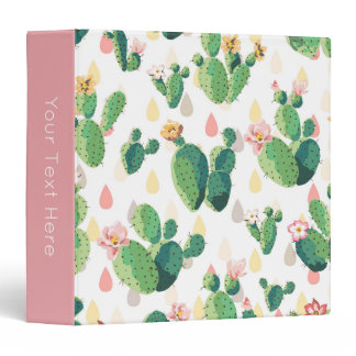 Cactus Print 3-Ring Binder