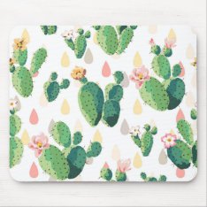 Cactus Print Mousepad at Zazzle