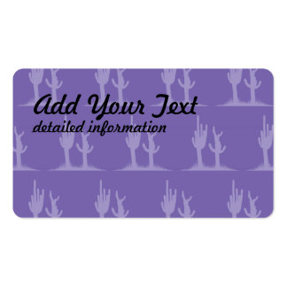 Cactus purple Double-Sided standard business cards (Pack of 100)