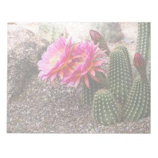 Cactus rosado de Echinopsis en la floración - libr Bloc De Notas