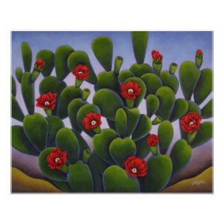 Cactus Roses Poster