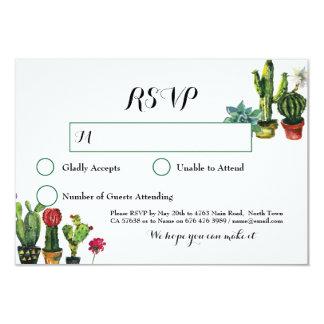 Cactus RSVP Wedding Fiesta Response Cards Lights