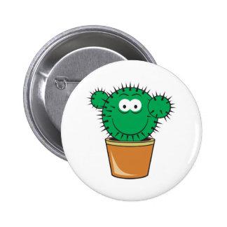 Cactus Smiley Face 2 Inch Round Button
