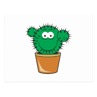 Cactus Smiley Face Postcard