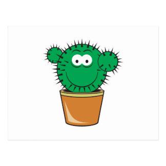 Cactus Smiley Face Postcard