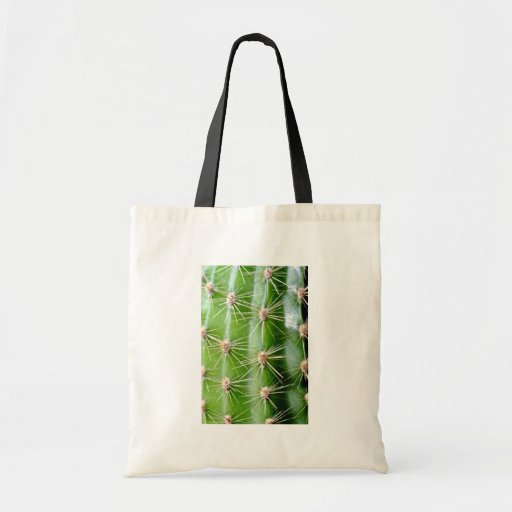 Cactus Spines Closeup Canvas Bags