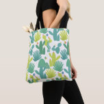 Cactus stock market tote bag