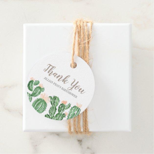 Cactus Succulent Baby Shower Thank You Tags Zazzle Com