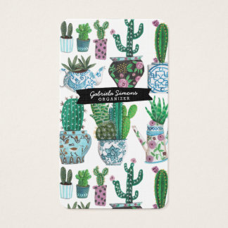 Cactus Succulent Pattern | Business Cards