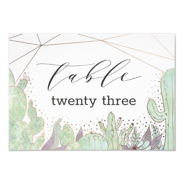 Cactus Succulent Terrarium Wedding Table Numbers Zazzle Com