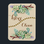 """Cactus Succulents Clean Flip Dishwasher Magnet<br><div class=""""desc"""">Take the guess work out with this elegant watercolor cactus and succulent flip dishwasher magnet. It is beautiful and chic and add to your home design. Simply place the side up that is dirty or clean so there is not guessing what the dishes are. If you need a custom order...</div>"""