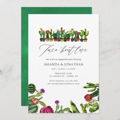 Cactus Succulents Fiesta Engagement Party Invitation