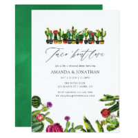 Cactus Succulents Fiesta Rehearsal Dinner Invitation