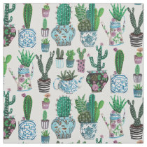 Cactus Succulents Surface Pattern | Fabric