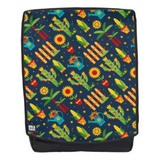 Cactus sunflower on blue Festa Junina pattern Backpack
