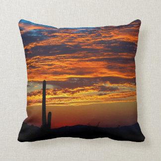 Cactus Sunrise Throw Pillow