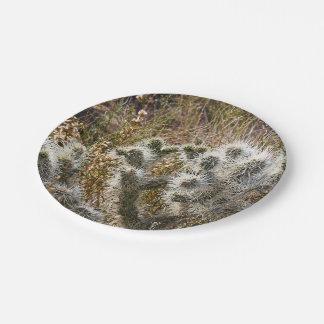 Cactus superventas temático plato de papel de 7 pulgadas