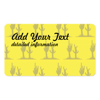 Cactus tan yellow Double-Sided standard business cards (Pack of 100)