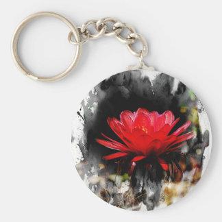 Cactus Torch Flower Keychain