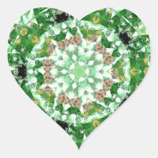 Cactus torsión julio de 2013 verde pegatina en forma de corazón