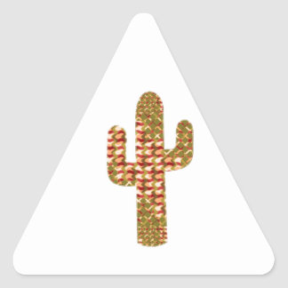 CACTUS TREE Graphic UNIQUE Pattern GIFTS Triangle Sticker