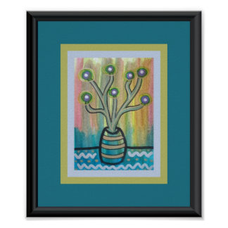 Cactus Tree Poster
