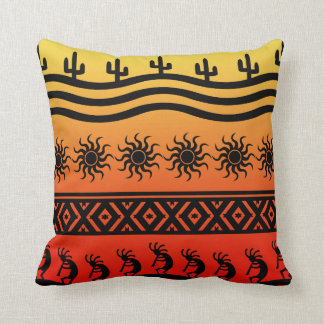 Cactus tribal Kokopelli de Sun del desierto del su Cojines