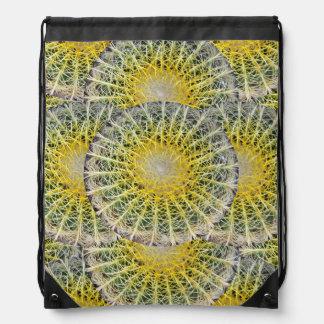 Cactus Tropical Botanical Plant Photo Drawstring Bag
