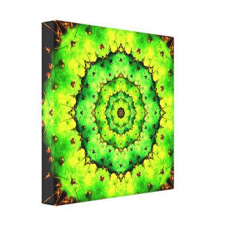 Cactus Tunnel Mandala Canvas Print
