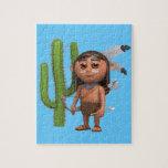 cactus valiente indio 3d puzzle con fotos