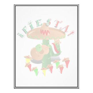 """Cactus w/Sombrero de la fiesta y guitarra Folleto 8.5"""" X 11"""""""