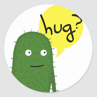 cactus wants some love classic round sticker