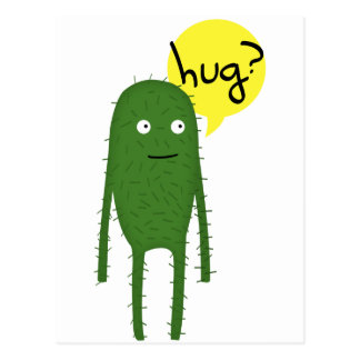 cactus wants some love postcard