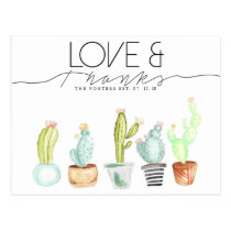 Cactus Watercolor | Love & Thanks Postcard