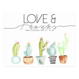 Cactus Watercolor | Love & Thanks Postcard