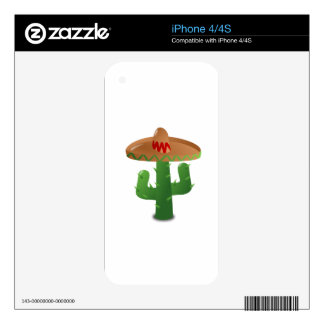 Cactus Wearing Sombrero Skins For The iPhone 4
