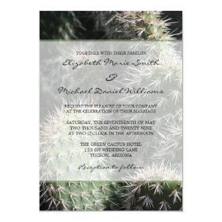 Cactus Wedding 5x7 Paper Invitation Card