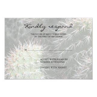Cactus Wedding Response Card Invites