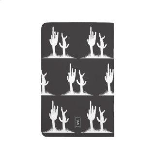 Cactus white black journals