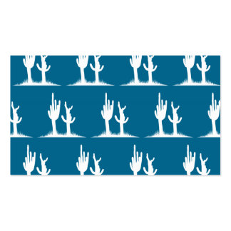 Cactus White Blue Double-Sided Standard Business Cards (Pack Of 100)