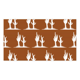 Cactus White Brown Double-Sided Standard Business Cards (Pack Of 100)