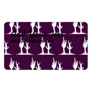 Cactus White Dark purple Double-Sided Standard Business Cards (Pack Of 100)